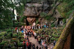 Historische Mönchszüge @ Burg und Kloster Oybin | Oybin | Sachsen | Deutschland